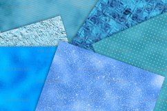 Teal Foil and Glitter Textures Digital Paper Product Image 2