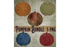 Fall Pumpkin Bundle, Print Art Sublimation 5 PNG Product Image 1