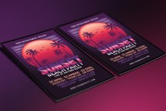 Sunset Beach Party Flyer Product Image 3