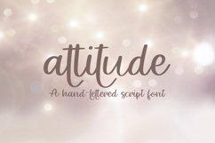 Web Font Attitude - A Hand-Lettered Script Font Product Image 1