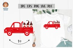 Cars and Gnomes SVG Valentine SVG files, cars silhouette set Product Image 1