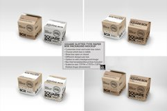 Square Slotted-Type Paper Box Packaging Mockup Product Image 3