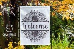 Sunflowers Split Border Monograms Set svg, floral monograms Product Image 5