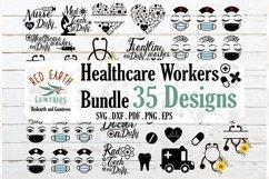Healthcare workers bundle, nurse bundle SVG,PNG,EPS,DXF Product Image 1