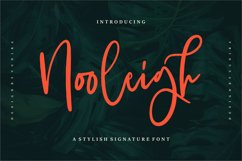 Nooleigh | A Stylish Signature Font Product Image 1