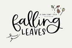 Falling Leaves - A Font Duo with Doodles Product Image 1