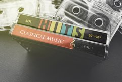 Vintage Cassette Tape Case With Cassette Mockup Product Image 4