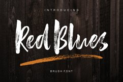Red Blues Brush Font Product Image 1