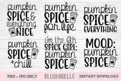 Pumpkin Spice Bundle of 6 Designs - PNG, JPG Product Image 1