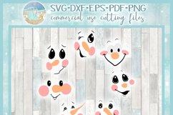 Snowman Face Bundle SVG Dxf Eps Png PDF Files for Cricut Product Image 4