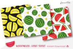Watermelon Fruit Seamless Pattern Background Product Image 3