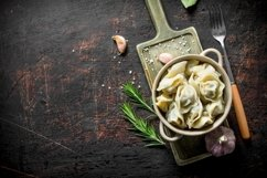 20 Photos Different dumplings in the bowl. Backgrounds Product Image 5