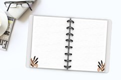 Printable writing paper lined dotted blank insert. A5 size Product Image 6