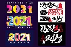 Happy new 2021 year - mega set label Product Image 2