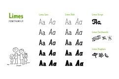 Limes—handmade fontfamily Product Image 4
