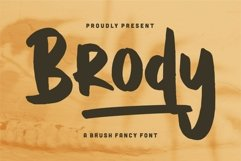Brody - A Brush Fancy Font Product Image 1