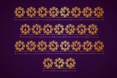 Flower Mandala Monogram Font Product Image 6