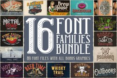 16 Font Families Bundle Product Image 1