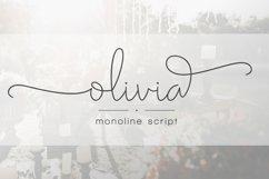 Olivia - Elegant Monoline Script Product Image 1