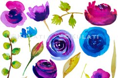 Watercolor Floral Clipart Product Image 3