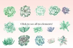 Watercolor Succulents and Greenery Product Image 2