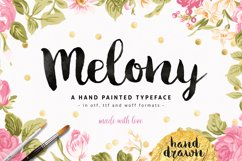 Melony Script, Hand Drawn Brush Font Product Image 1