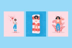 Women portraits vector collection Product Image 6