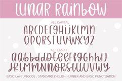 Lunar Raninbow- A handwritten mixed case font Product Image 2