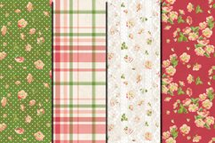 Shabby chic pink roses seamless patterns Product Image 2