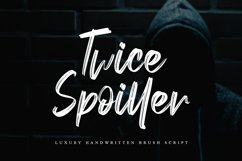 Twice Spoiller Brush Script Product Image 1