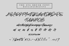 Moriss Ward SVG Brush Font Product Image 2