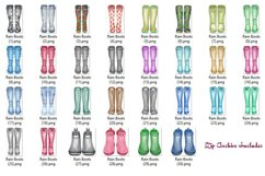 Wellington Boot Watercolor Clipart Product Image 4