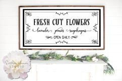 FRESH CUT FLOWERS, BLACK - SVG, PNG, DXF and EPS Product Image 1