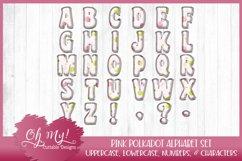 Pink Polkadots Monogram Alphabet Bundle Clipart Graphics Wor Product Image 2