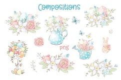 Easter Watercolor Clipart Product Image 4