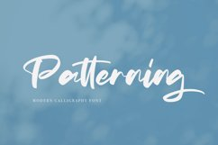 Patterning | Modern Calligraphy Font Product Image 1