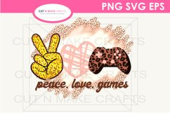 Peace Love Games Sublimation Design for T-shirts Gaming Tee Product Image 3