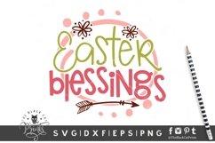 Easter Blessings SVG | Easter SVG| Easter Cut File Product Image 1