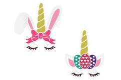 Unicorn Easter Bunny SVG in SVG, DXF, EPS, PNG, JPG Product Image 2