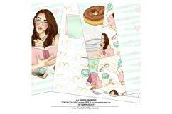 Planner Girl Digital Paper Pack Planning Fashion Product Image 3