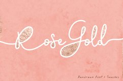 Rose Gold Font and Swatches Product Image 1