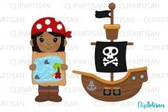 Pirate Clip Art, Pirates, Pirate Ship Treasure Island Product Image 2