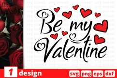 Be My Valentine SVG Bundle | Valentines Day Cut File Product Image 1