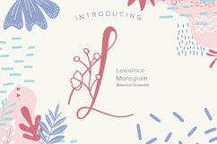 Laurence Monogram Font Product Image 1