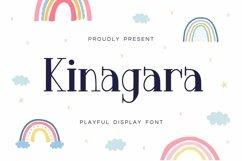Web Font Kinagara Display Font Product Image 1