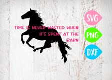 Time spent at the barn is never wasted, Horse Svg, Barn Svg Product Image 1