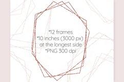 Rose gold frames Glitter frame clipart Invitation decor Product Image 2