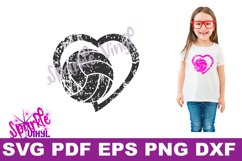 svg grunge distressed gift for volleyball heart svg dxf eps Product Image 2