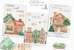 Old houses watercolor clipart Product Image 5