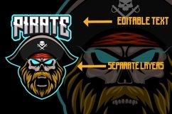 Pirate mascot gaming logo Product Image 2
